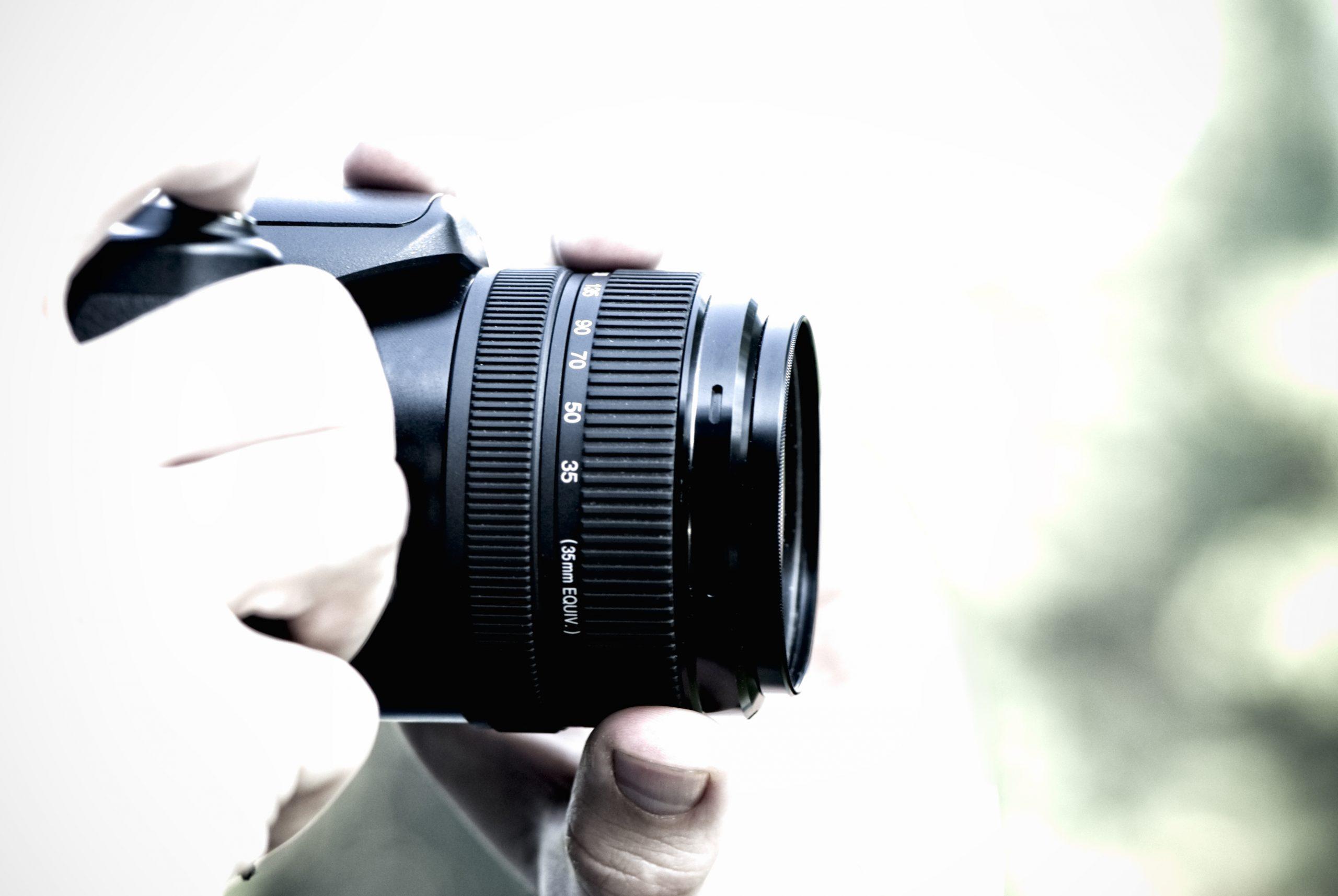 Photographer holding professio